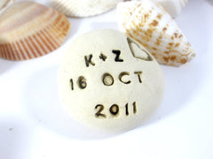 Save the date Love stones Love pebbles - Ceramics By Orly  - 2