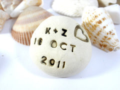 Save the date Love stones Love pebbles - Ceramics By Orly  - 3