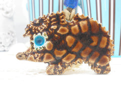 Ceramic ornament decoration OOAK Hedgehog ornament in a color of your choice - Ceramics By Orly  - 4
