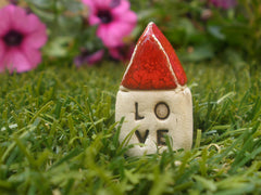 Red Love house Miniature houses Holiday gift - Ceramics By Orly  - 5