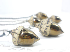 Acorn Jewelry – OOAK ceramic acorn necklace in a color of your choice - Ceramics By Orly  - 2