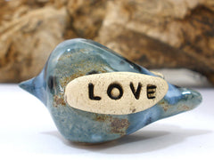 True Love Wedding cake topper Love birds cake topper Anniversary gift Chic wedding Engagement gift - Ceramics By Orly  - 2