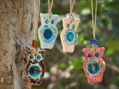 Ceramic ornament Ceramic Owl ornament in a color of your choice Outdoor ornament Indor ornament - Ceramics By Orly  - 5