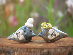 Personalized rustic wedding cake topper with your initials and your special date - Ceramics By Orly  - 3