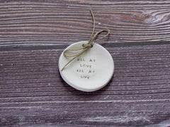Wedding ring dish All my love All my life - Ceramics By Orly  - 4