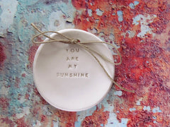 You are my sunshine Wedding ring bearer Ring dish Wedding Ring pillow - Ceramics By Orly  - 3