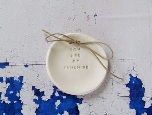 You are my sunshine Wedding ring bearer Ring dish Wedding Ring pillow