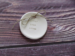 Happily ever after Wedding ring bearer Ring dish Wedding Ring pillow - Ceramics By Orly  - 3