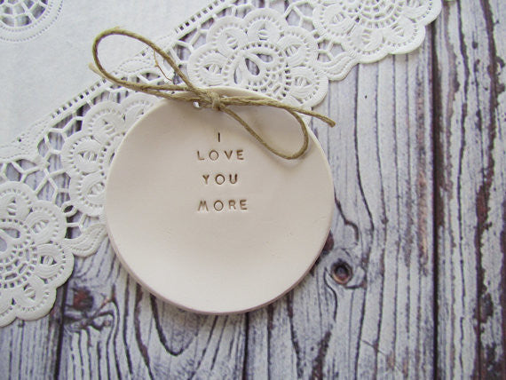 I love you more Wedding ring dish