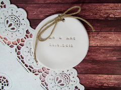MR & MRS Wedding ring dish with your wedding date - Ceramics By Orly  - 4