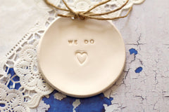 Wedding ring dish We Do - Ceramics By Orly  - 2