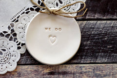 Wedding ring dish We Do - Ceramics By Orly  - 3
