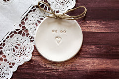 Wedding ring dish We Do - Ceramics By Orly  - 4