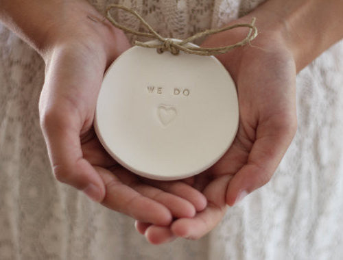 Wedding ring dish We Do - Ceramics By Orly  - 1