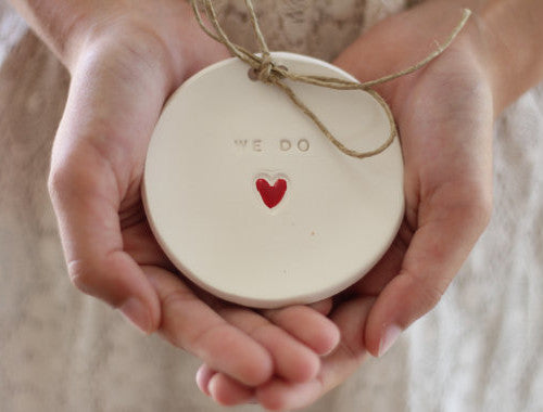 Wedding ring bearer We Do Ring dish Wedding Ring pillow