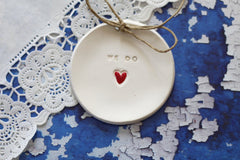Wedding ring bearer We Do Ring dish Wedding Ring pillow - Ceramics By Orly  - 4