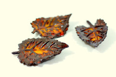 Brown and Orange ceramic leaves - Ceramics By Orly  - 4