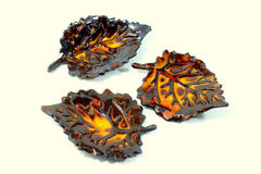 Brown and Orange ceramic leaves  $28.00 - Ceramics By Orly  - 2