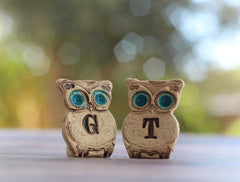Personalized owls wedding cake topper - Ceramics By Orly  - 6