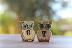 Personalized owls wedding cake topper - Ceramics By Orly  - 2