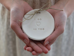I Do Me Too Wedding ring dish - Ceramics By Orly  - 1