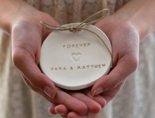 Forever Wedding ring dish with your names