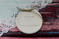 Forever Wedding ring dish with your names - Ceramics By Orly  - 5