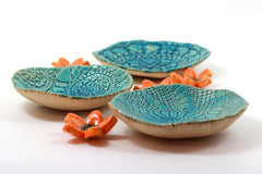 House warming gift Serving Housewares decoration Ceramic bowls set (3 bowls) - Ceramics By Orly  - 4
