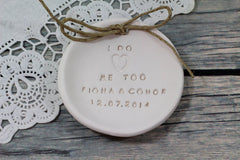 I Do Me Too Wedding ring dish - Ceramics By Orly  - 5