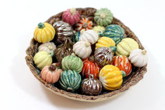 Miniature Ceramic pumpkin (set of 3) in a color of your choice Holiday decoration Ceramic miniatures - Ceramics By Orly  - 2