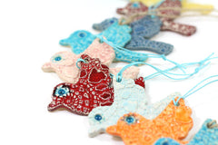 Ceramic birds ornaments - Ceramics By Orly  - 5