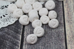 Heart favor Wedding favors Round heart pebbles Bridesmaids gift Shower gift Wedding decoration - Ceramics By Orly  - 4