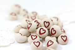 Valentine's Day Heart favor Wedding favors Round heart pebbles Bridesmaids gift Shower gift - Ceramics By Orly  - 4