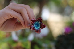 Marsala Flower ring Cocktail ring Big ring Ceramic jewelry Romantic jewelry Boho chic jewelry - Ceramics By Orly  - 3