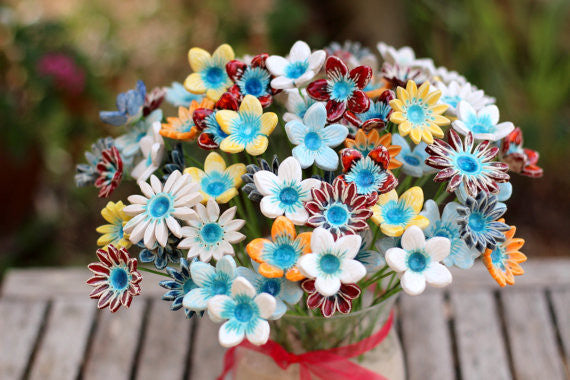 Spring decor housewarming gift Flowers centerpiece Flowers decorations Ceramic flowers Mother's Day gift