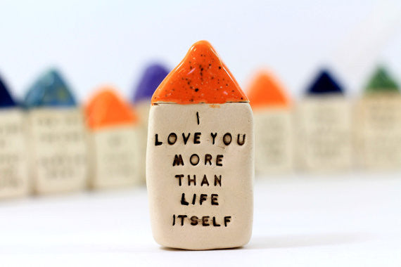 I love you more than life itself Anniversary gift Personalized gift One year anniversary Anniversary gifts for him Anniversary gift for her - Ceramics By Orly  - 1