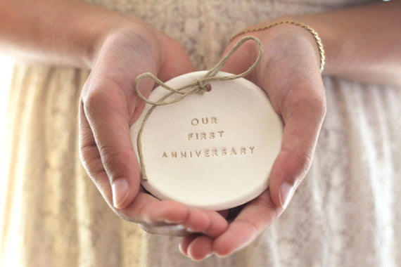 Our first anniversary Anniversary gift Ring dish Ring bearer 1st anniversary gift