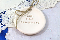 Our first anniversary Anniversary gift Ring dish Ring bearer 1st anniversary gift - Ceramics By Orly  - 4