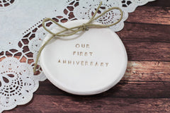 Our first anniversary Anniversary gift Ring dish Ring bearer 1st anniversary gift - Ceramics By Orly  - 3