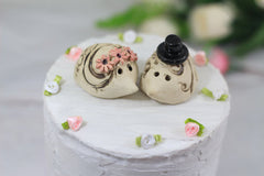 Hedgehog Wedding Hedgehog cake topper Animal Cake Topper Custom cake topper wedding - Ceramics By Orly  - 3