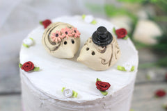 Hedgehog Wedding Hedgehog cake topper Animal Cake Topper Custom cake topper wedding - Ceramics By Orly  - 5
