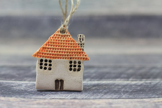 Wall ornament House ornament Holidays decor Wall hanging Christmas tree ornaments