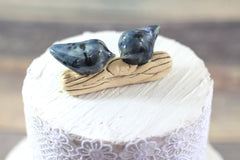 Customized wedding cake topper Love birds cake topper Wedding cake topper - Ceramics By Orly  - 2