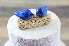 Customized wedding cake topper Love birds cake topper Wedding cake topper - Ceramics By Orly  - 1
