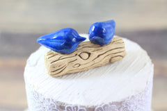 Customized wedding cake topper Love birds cake topper Wedding cake topper - Ceramics By Orly  - 3