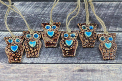 Ceramic ornament Ceramic Owl ornament in a color of your choice - Ceramics By Orly  - 3