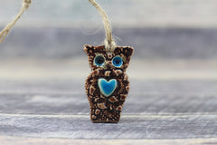 Ceramic ornament Ceramic Owl ornament in a color of your choice - Ceramics By Orly  - 1