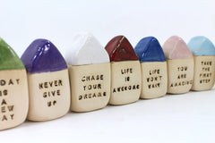 Miniature house Motivational quotes Inspirational quote Today is a new day - Ceramics By Orly  - 6