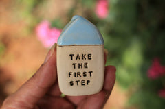 Miniature house Motivational quotes Inspirational quote Never ending love - Ceramics By Orly  - 2