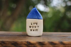 Miniature house Motivational quotes Inspirational quote Today is a new day - Ceramics By Orly  - 3